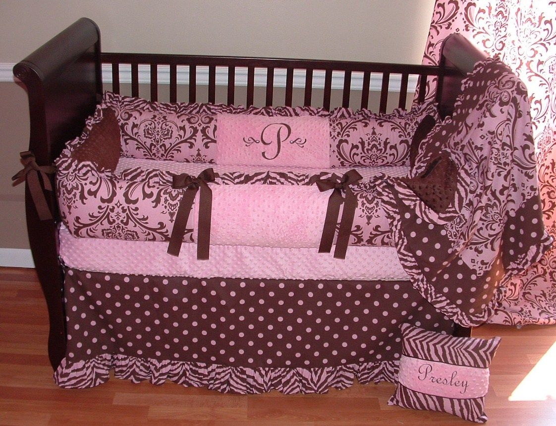 Best Brown And Pink Baby Bedding Presleigh Baby Bedding 1174 400 x 300