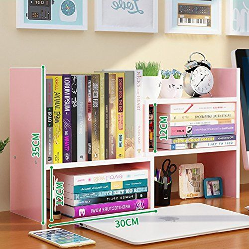 WAYER Wood Magazine Holder Bookshelf Table Combination