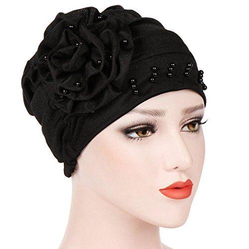 78017724ea2 Kintaz Women s Muslim Hijab Turban Elegant Strench Side Flower Chemo Cancer  Cap