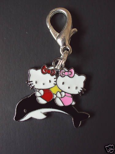e93c37d645 New Hello Kitty Dolphin Charm Zipper Pull Backpack Clip Cartoon ...