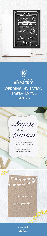 3 Printable Wedding Invitation Templates You Can DIY  Diy