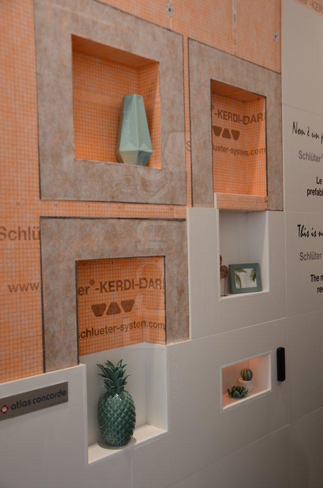 vorgefertigte Schlüter Wandnischen für den Einbau in Wandflächen - nischen im badezimmer