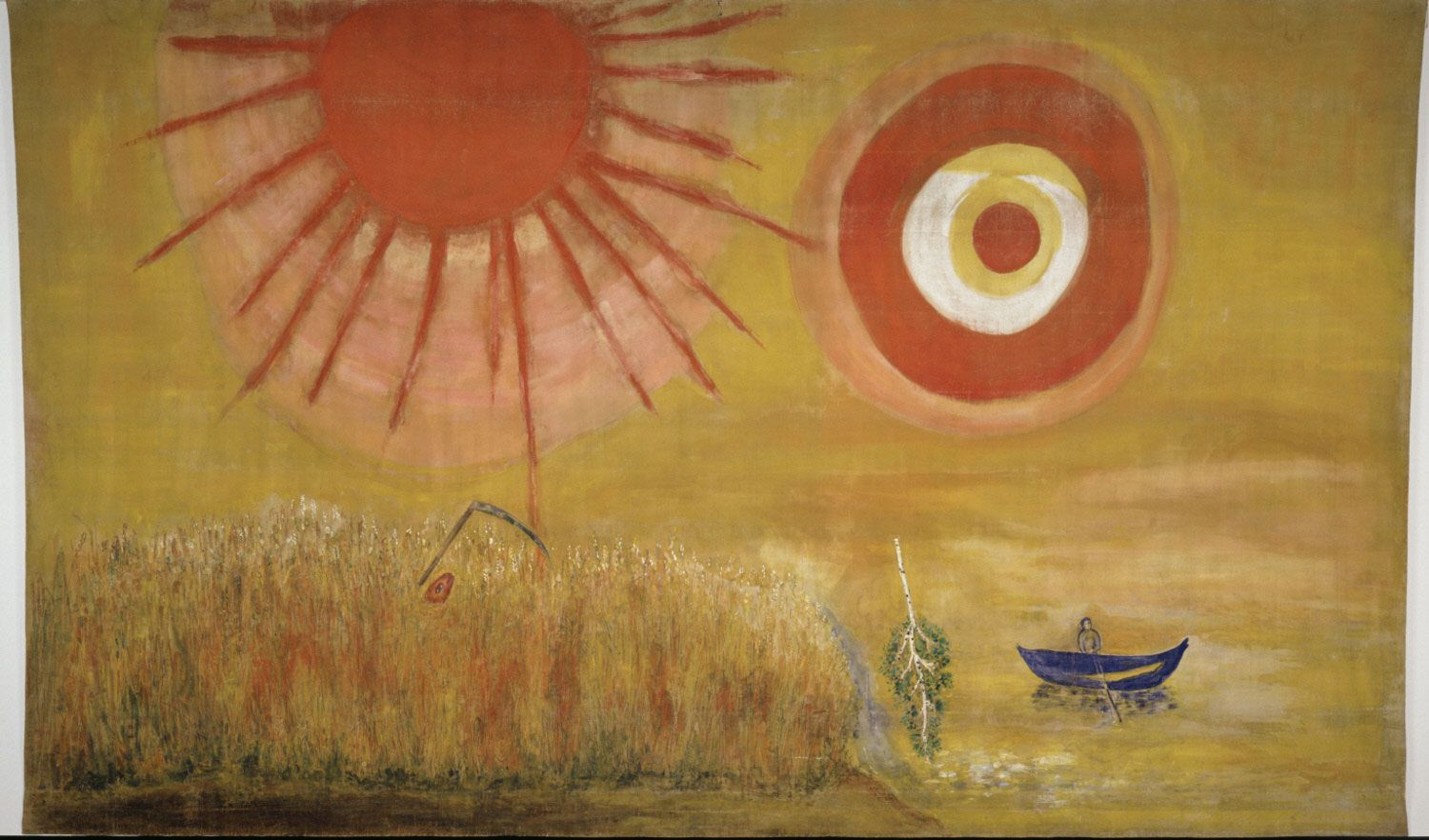 A Wheatfield on a Summer's Afternoon  Marc Chagall, French (born Russia), 1887 - 1985