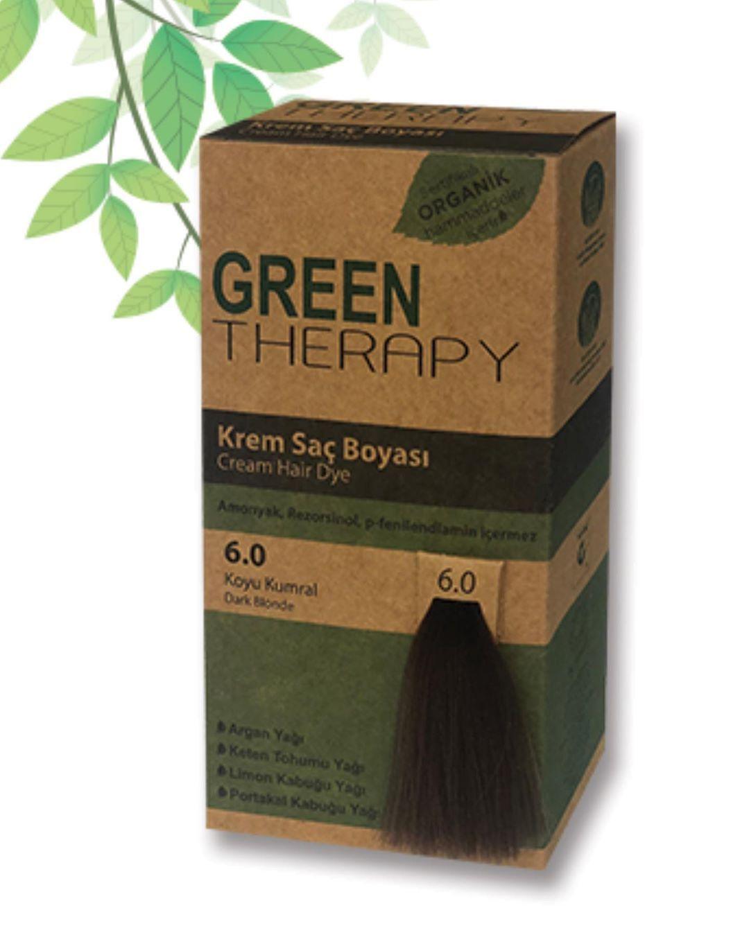 صبغة Green Therapy صبغة بمكونات طبيعية خالية من الأمونيا التي تسبب