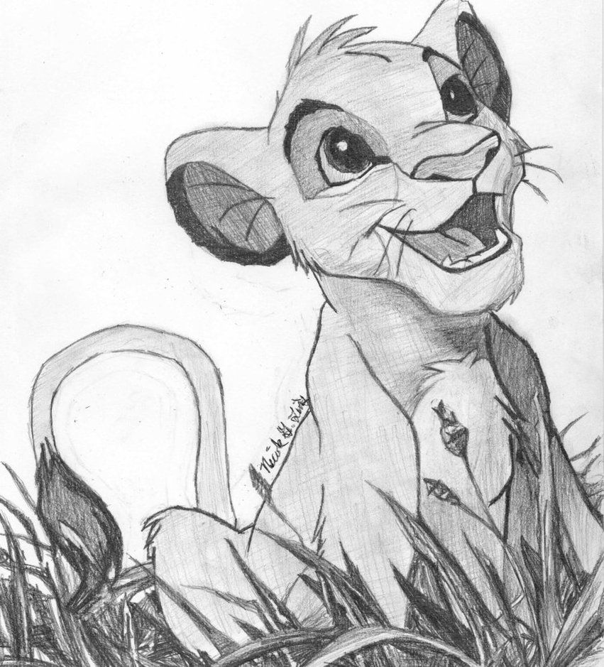 Simba Disney Characters Drawings