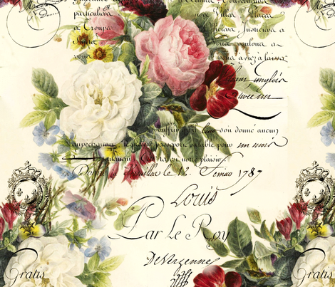 Colorful fabrics digitally printed by Spoonflower - Rosey Document