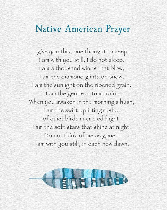 FREE SHIPPING Native American Prayer, Serenity Prayer, Sympathy Gift, Serene Prayer, Cherokee Indian