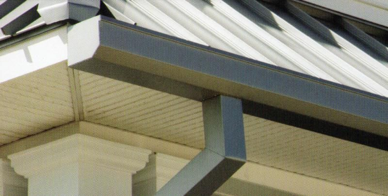 7 Quot Seamless Straight Back Gutter With Flange Or Straight