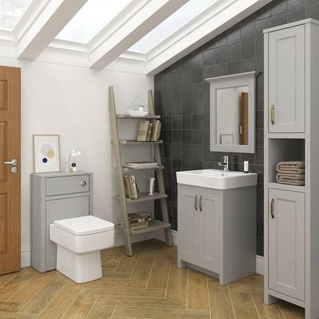 Chatsworth Traditional Grey Vanity Victorian Plumbing Traditional Bathroom Suites Traditional Bathroom Bathroom Furniture