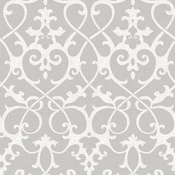 2625 21866 Grey Ironwork Axiom Symetrie Wallpaper By A Sreet Prints Peel And Stick Wallpaper Nuwallpaper Damask Wallpaper