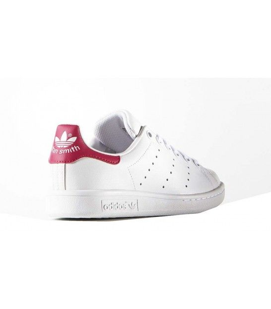 competitive price f1d01 3ea2d ADIDAS ZAPATILLA STAN SMITH J FTWR WHITE BOLD PINK