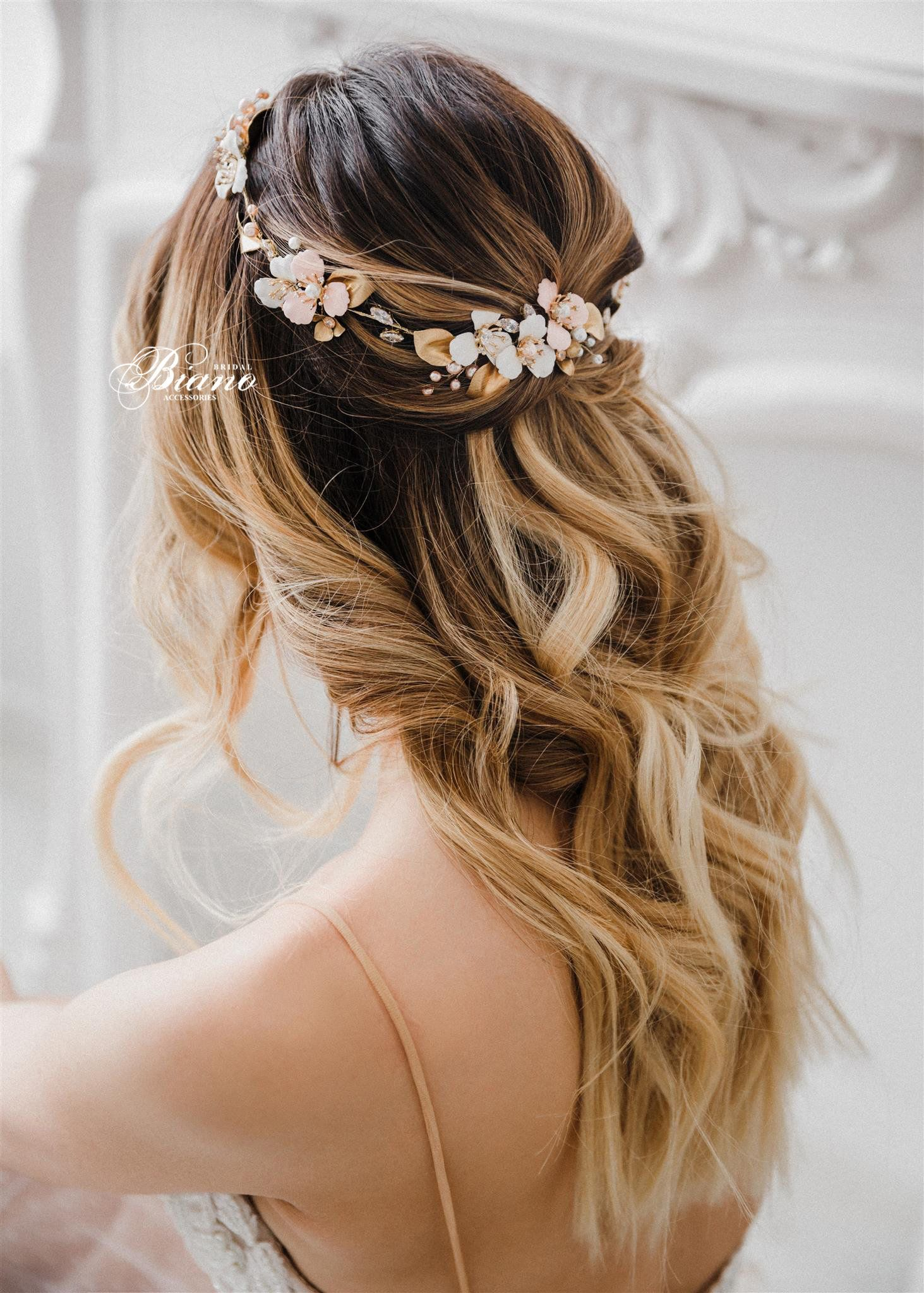 Bridal Headpiece Bridal Halo Headband Wedding Hair Accessory