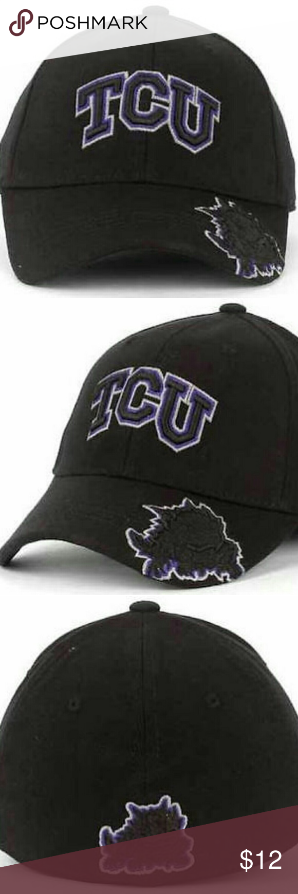 low priced 04215 128b0 TCU Horned Frogs NCAA TOW Stretch Fitted Hat TCU Horned Frogs NCAA TOW