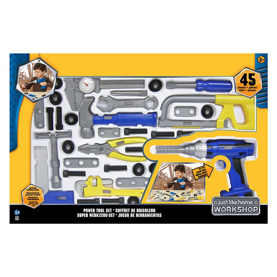 Just Like Home Workshop Power Tool Set 45 Piece Toys R Us