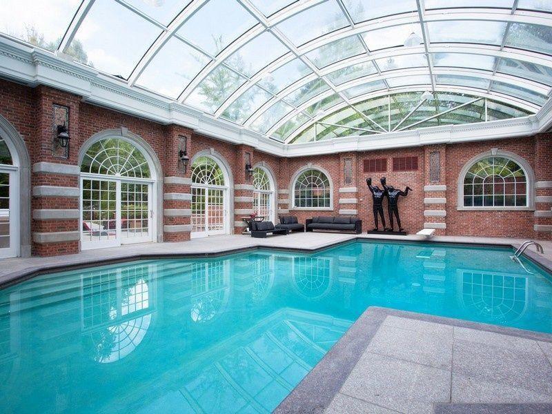 Alicia Keys And Swizz Beatz Celebrity Home Mansions Indoor Pool