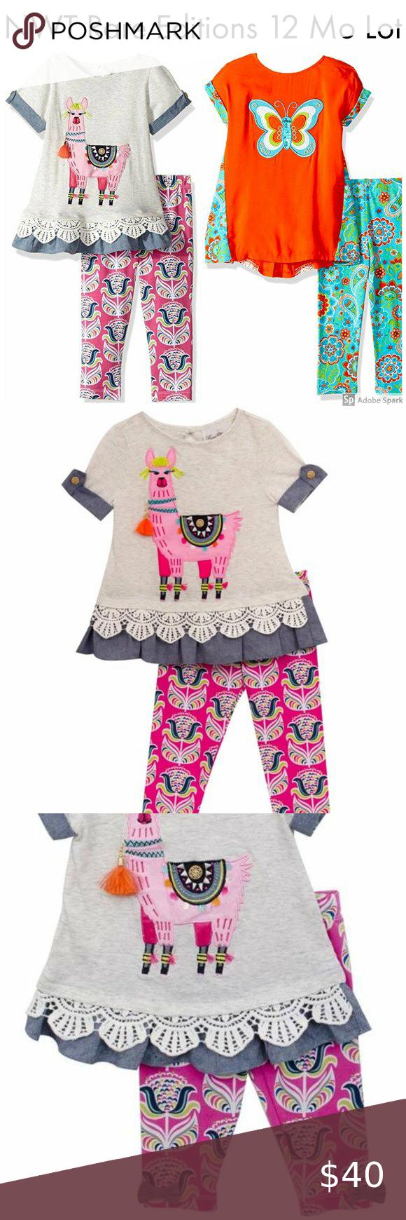 RARE EDITIONS® Girls/' 6 Butterfly Tutu Dress /& Leggings Set NWT