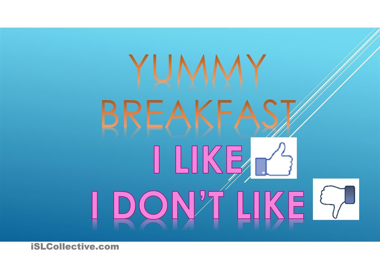 Yummy Breakfast | Teacher - ESL Teacher | Pinterest | Teacher