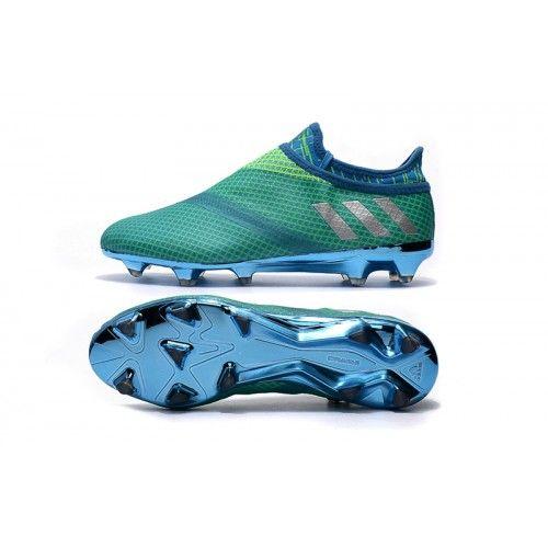 2016 Adidas Messi 16 Pureagility FG AG Vert Chaussures de