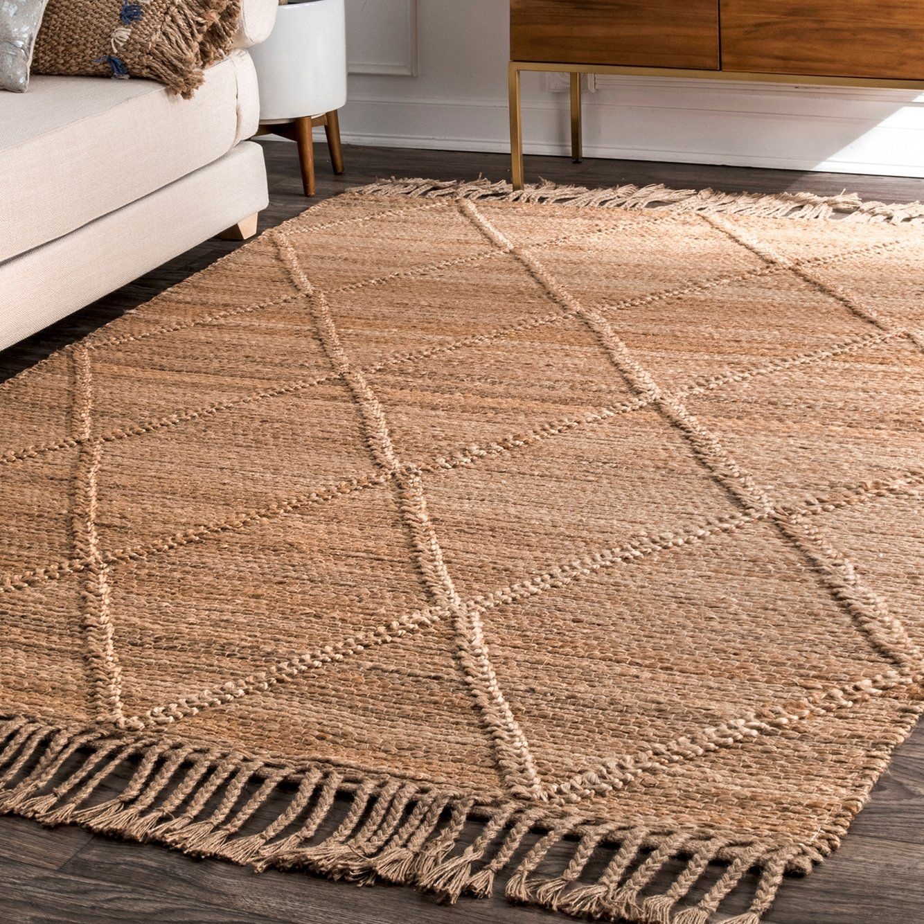 Miller Jute Hand Woven Rug In 2021 Natural Area Rugs Area Rugs Rugs
