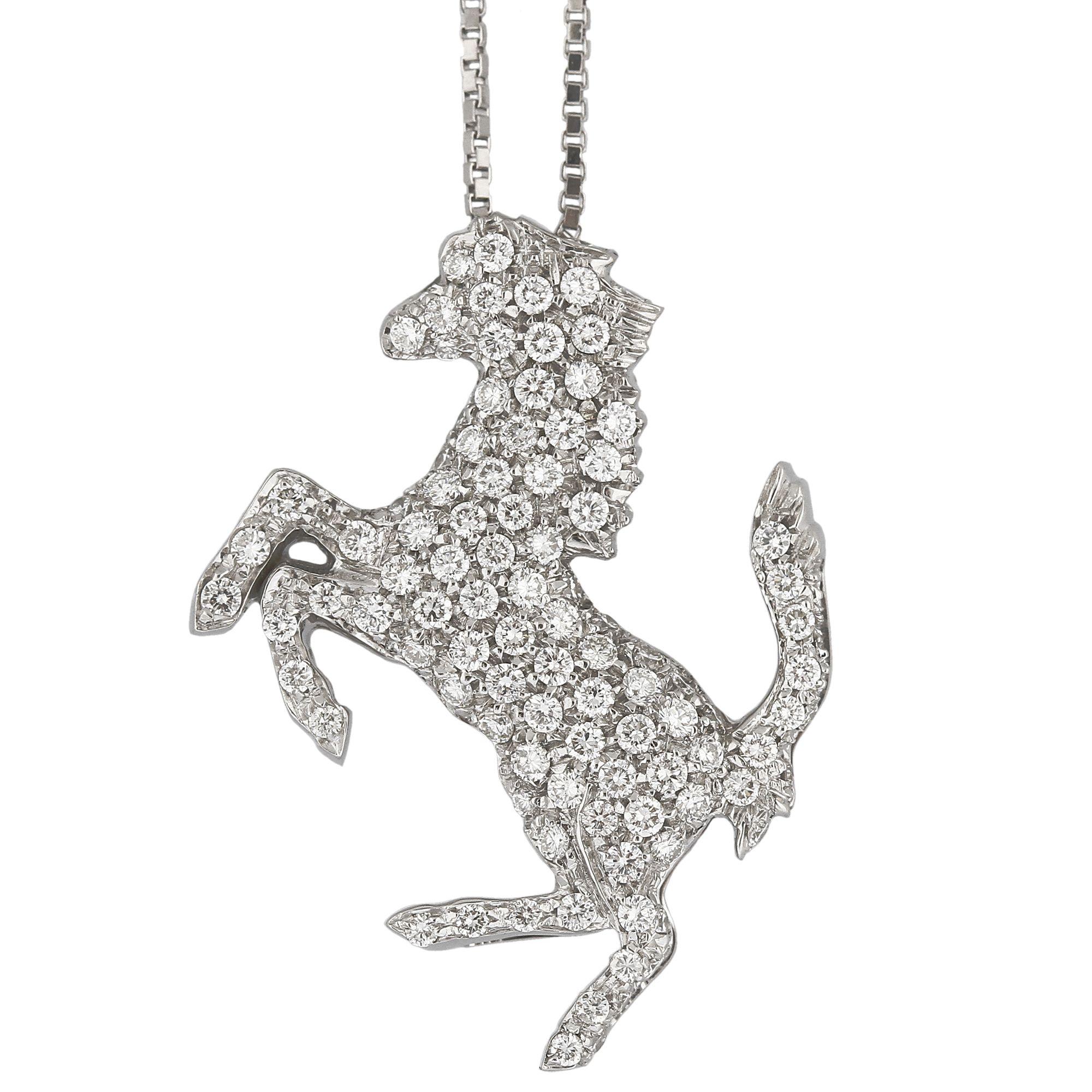 rose jewelry in ferrari necklace pendant chopard diamond gold