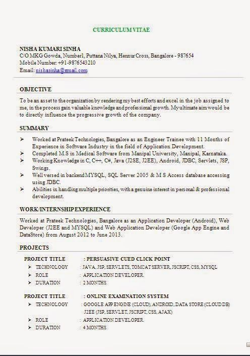 effective resume Sample Template Example ofExcellent Curriculum - example of an effective resume