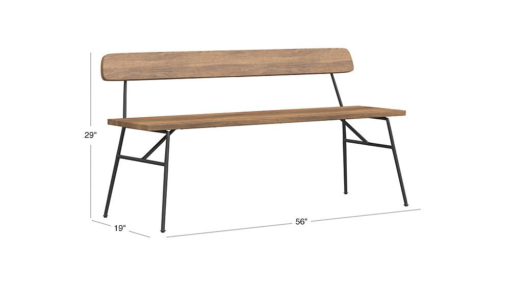Principle Wood Dining Bench With Back Cb2 Modern Bench Wood Dining Bench Modern Storage Bench