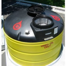 385 Gallon Double Wall Waste Oil Tank w/ Oil Level Gauge