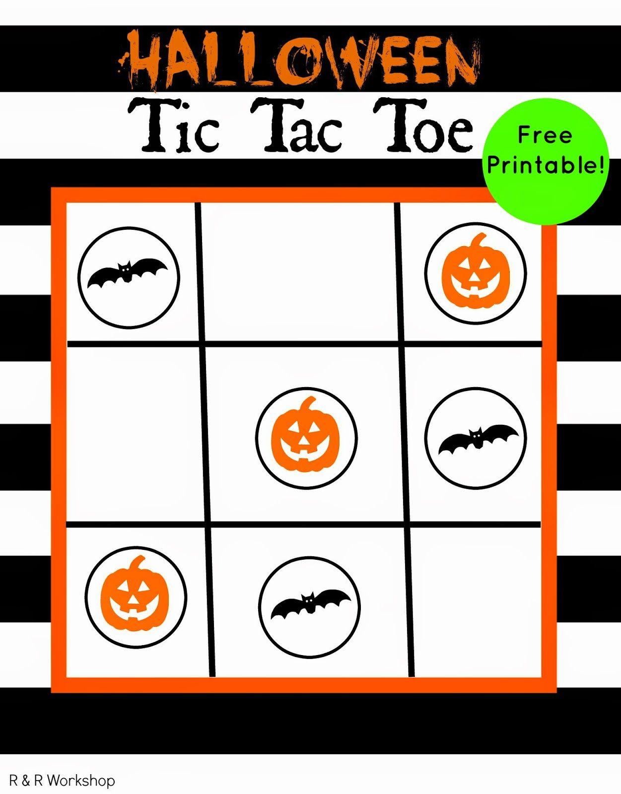 3ad274046 Halloween Tic Tac Toe Game (Free Printable)