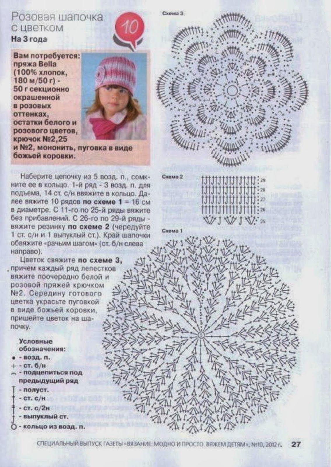 2012-10-18_175656_27.jpg (1136×1600) | Gorros para Damas niñas y ...