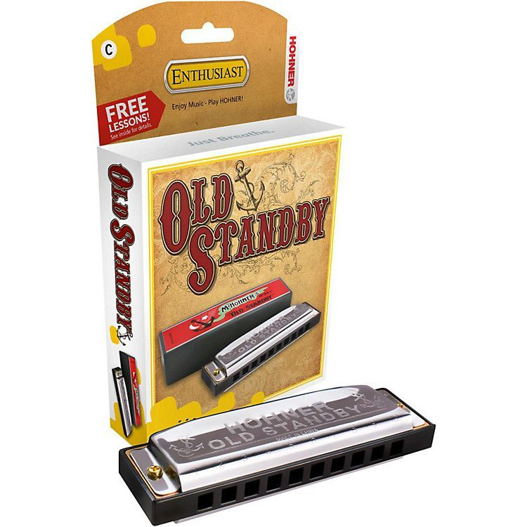 Hohner Old Standby Harmonica Blue band, Any music, Harp