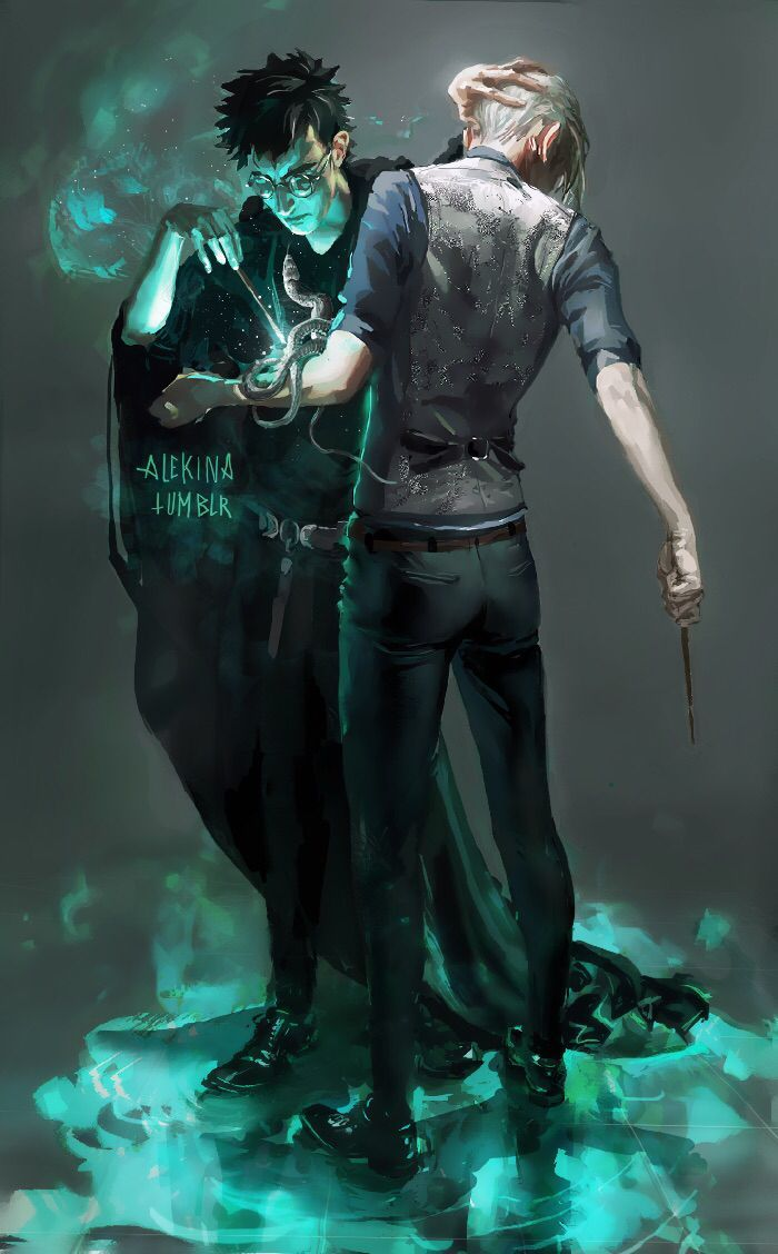 Harry And Draco Branding By Alekinaart Via Deviantart Harry Draco Harry Potter Harry Potter Universal