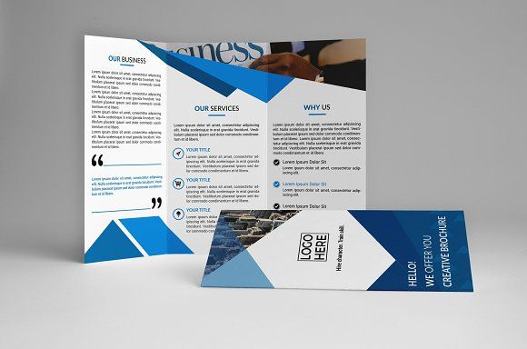 Business Trifold Brochure Template by assaiv on @creativemarket