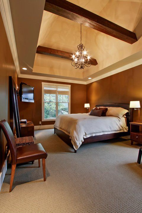 Wood Beam Ceilings By Jenny Blalock, Luxe Homes U0026 Design, Wood Beams In  Master Bedroom, Craftsman Style Bedroom, Covered Bridge Knoxville,  Knoxville Builder