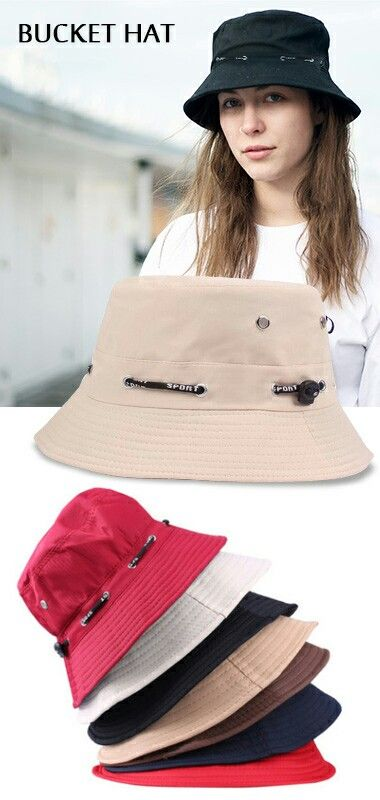 This bucket hat featuring flat top, wide brim, adjustable head strap. It is suitable for all the year round.