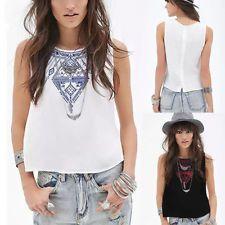 Fashion Women's Casual Loose Sleeveless Vest Tank T Shirt Blouse Tops