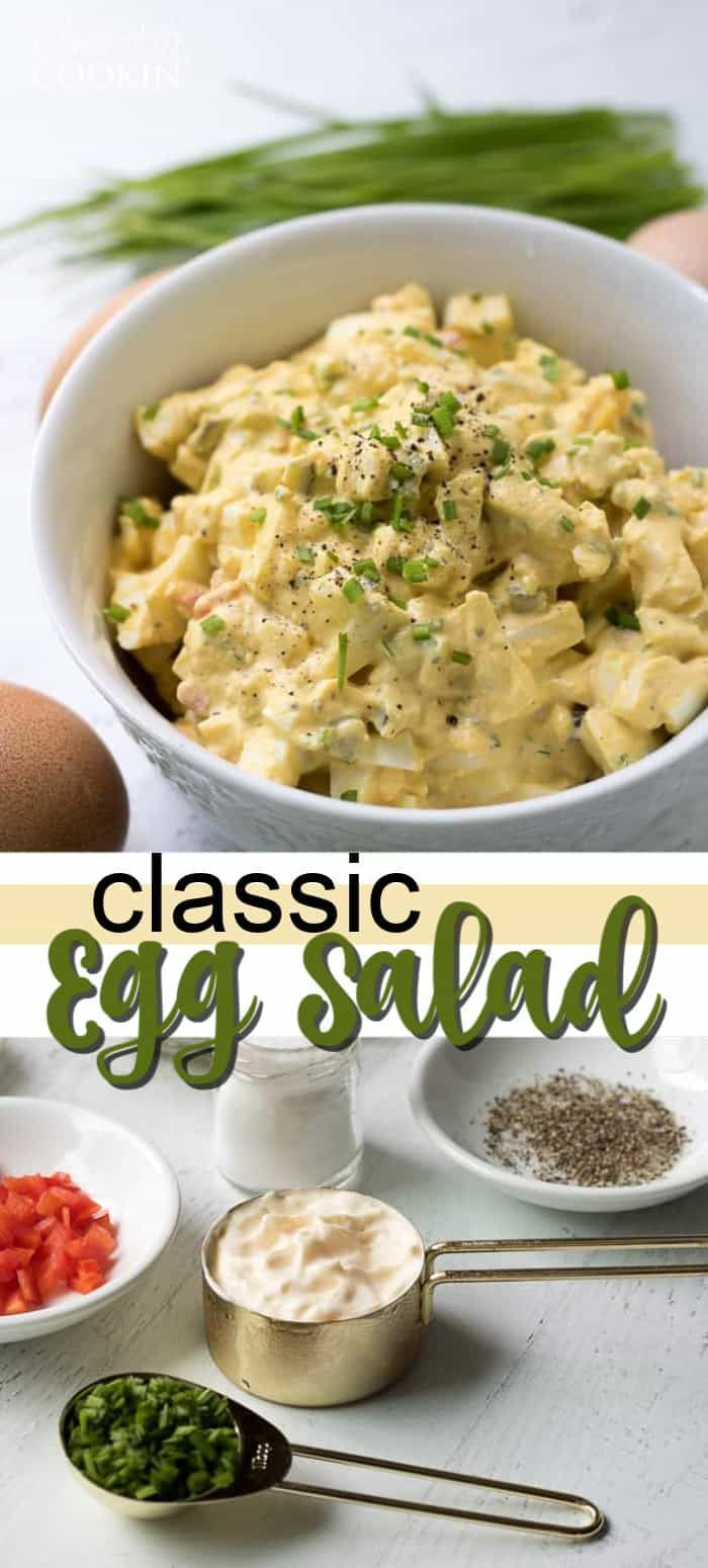 This Egg Salad is made up of all the classic ingredients from your traditional egg salad recipe. This is a great recipe for a potluck or BBQ!