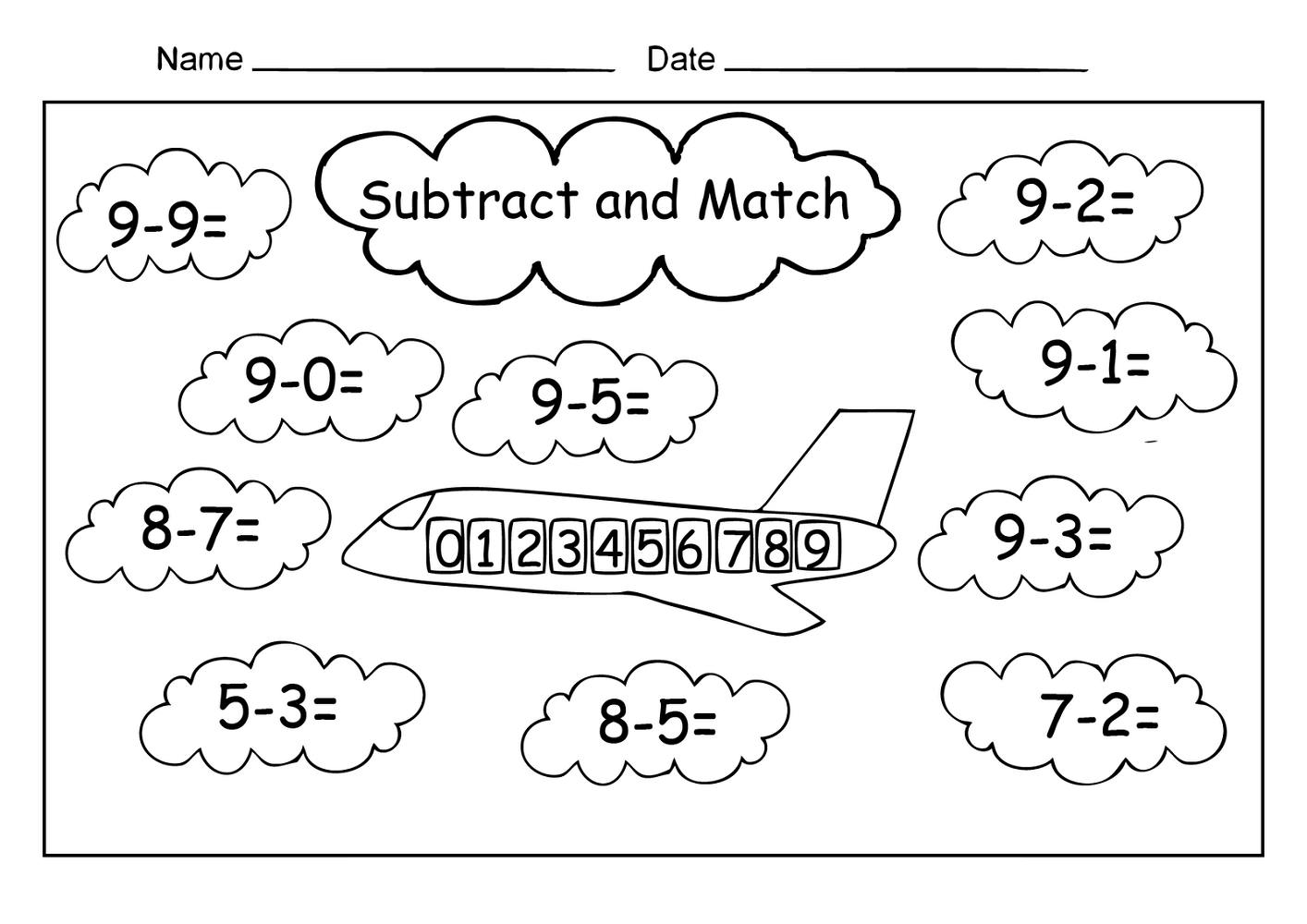 Free Easy Math Worksheets For 1st Grade