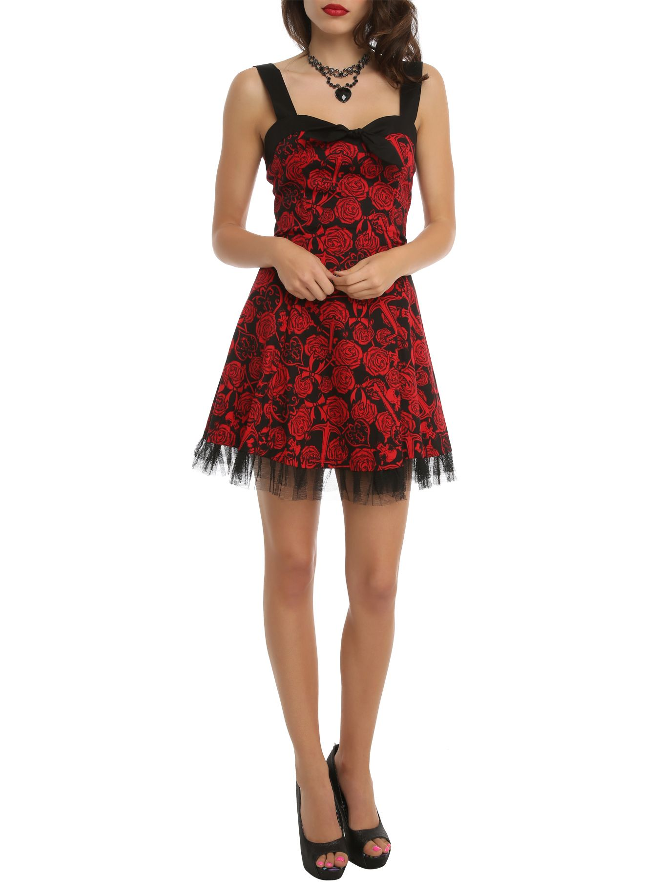 Hell bunny anchor rose dress pinterest bunny hot topic and key