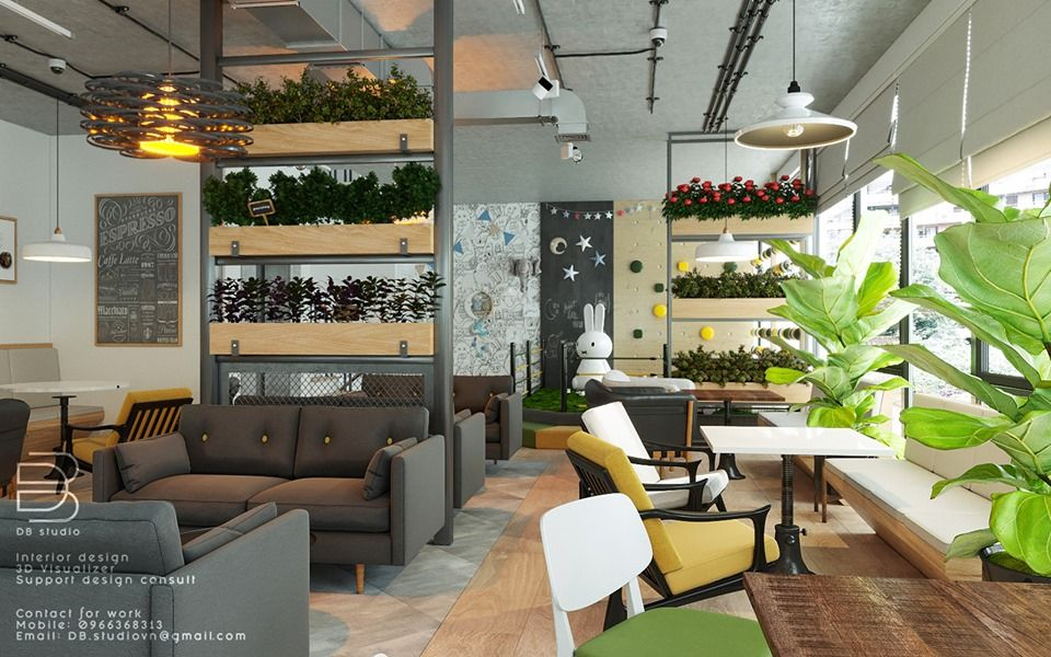 3d Model Interior Coffee 4 Scenes File 3dsmax By D3 Studio Free Download Interior 3d Design Projects Architecture Visualization