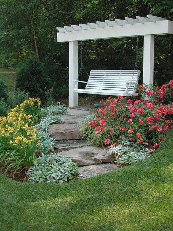 Stunning cozy swing garden inspiration architecturemagz