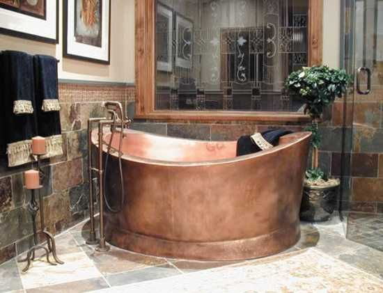 High Quality Copper Bathtubs Add Exquisite Aquatic Vessels In Vintage Style To Modern  Bathroom Design
