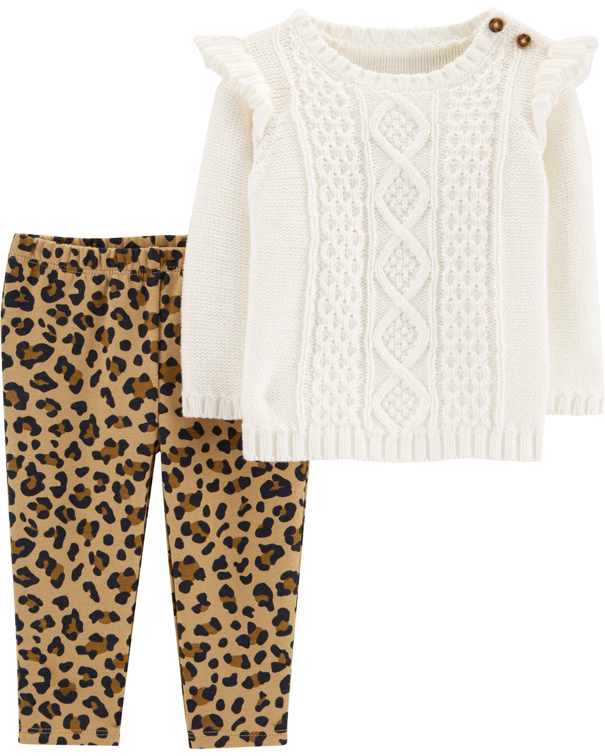 8cfb25b80f 2-Piece Sweater & Leopard Legging Set | gift ideas 2018 | Carters ...