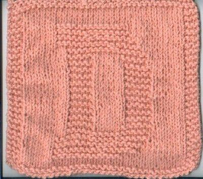 "Knitted ""D"" cloth   Dishcloth knitting patterns, Knit ..."