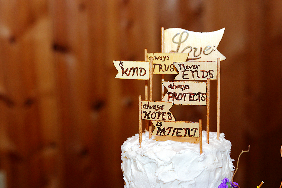 awesome wedding cake topper - scriptures