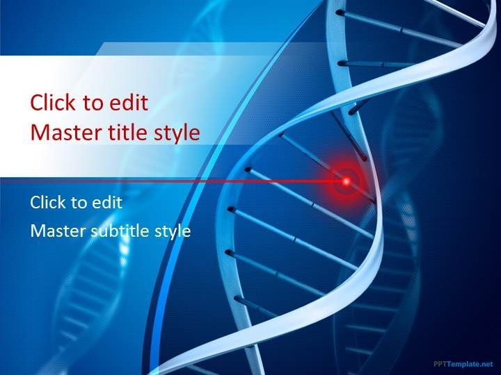 Free Genetics Ppt Template With Blue Background Powerpoint