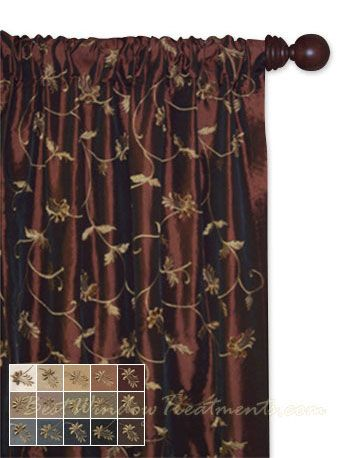 belvedere curtain panel available in 14 color choices