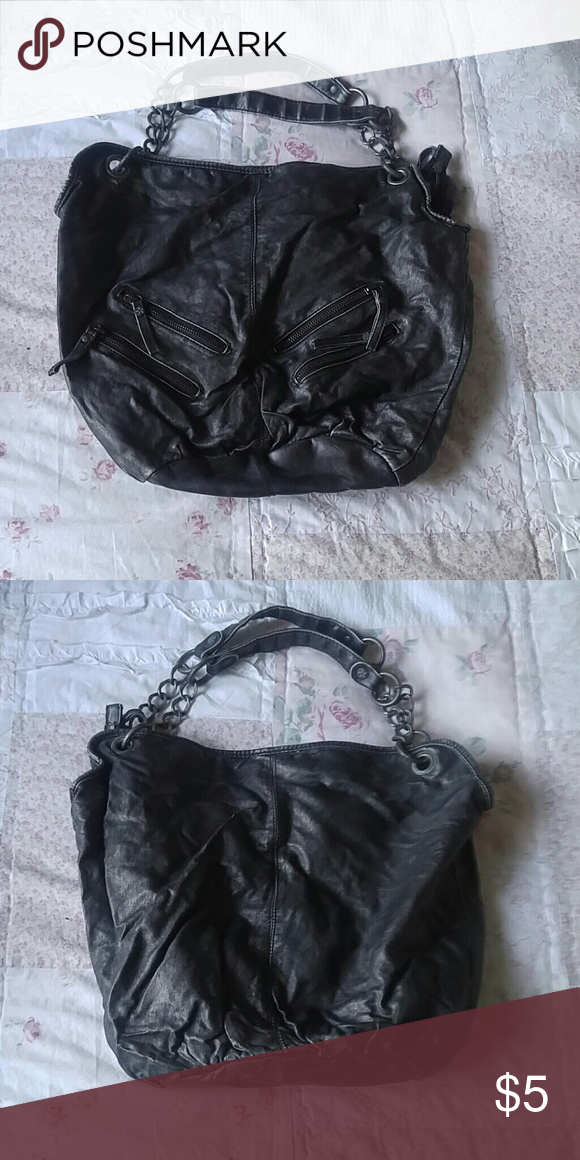 8869678d3079 Converse black distressed leather purse Converse black distressed leather  purse used maybe 3 times perfect condition