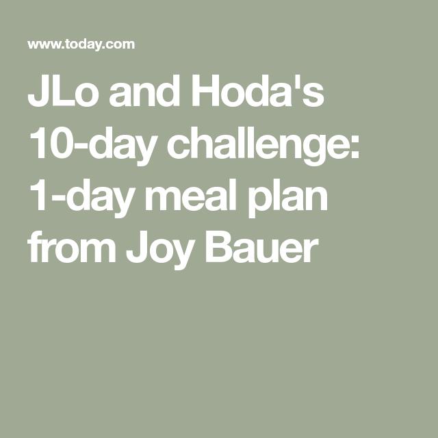 jlo 10 day diet plan