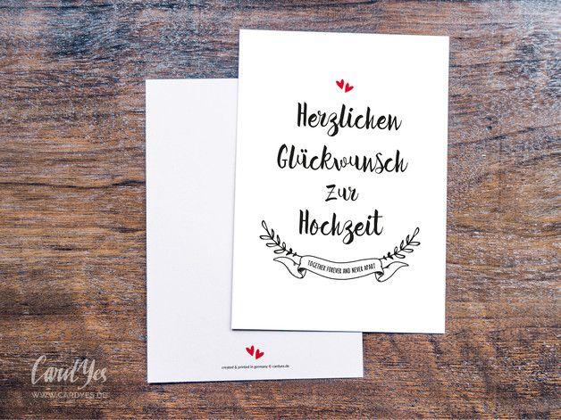 Stylische Gluckwunschkarte Zur Hochzeit In Schwarz Weiss Und Rot Rustikale Liebe Vintage Hochzeitskarte Gluckwunsch Karte Wedding Congratulations Card Hand Lettering Congratulations Card
