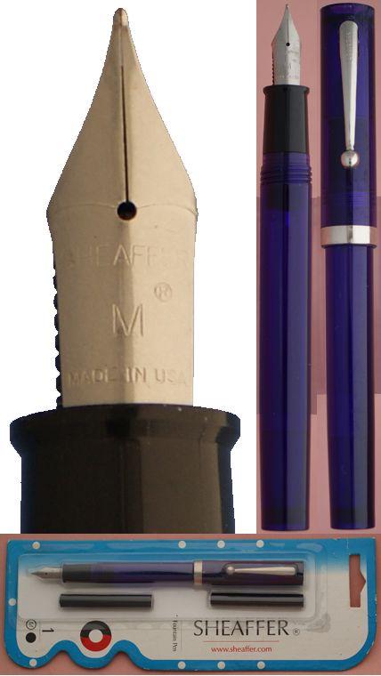 Sheaffer No nonsense Purple demonstrator fountain pen #Sheaffer, #No nonsense, #purple, demonstrator, #fountain pen, #purple, #targa, #fine, #nib, #calligraphy, #italic, #italic fine
